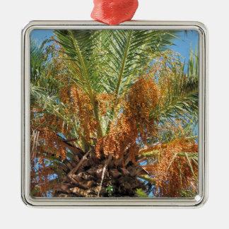Date palm metal ornament