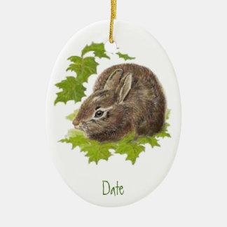 Dated, Custom Bunny Rabbit Ornament Animal