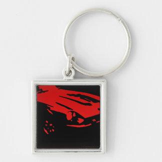 Datsun 240Z Detail, Red on dark Key Ring
