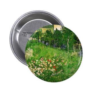 Daubigny s Garden by Van Gogh Pinback Buttons