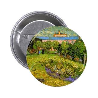 Daubigny s Garden by Vincent van Gogh Pinback Buttons