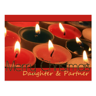 daughter and partner Merry Christmas card Postcard