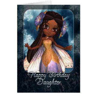 Daughter Birthday Card - Cute Blue Fairy