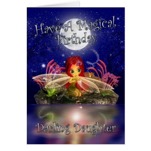Daughter Birthday Card - Cute Little Fairy
