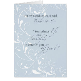 Daughter Bridal Shower Congratulations Light Blue Card