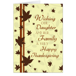 Daughter & Family Happy Thanksgiving Card
