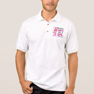 Daughter Fights Like Girl Breast Cancer 42 9 png Polo T-shirt