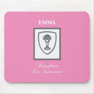 Daughter, First Communion Silver Chalice Mouse Pad