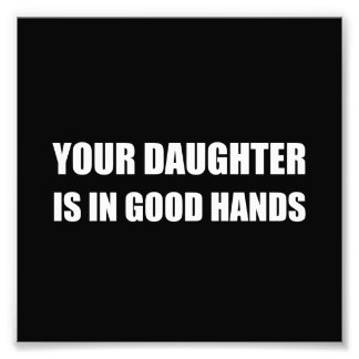 Daughter Good Hands Photographic Print