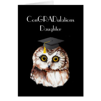 Daughter Graduation Congratulations Cute Wise Owl Card