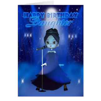 Daughter Happy Birthday Singing Deva Cute Card
