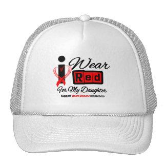Daughter  -  I Wear Red Ribbon Heart Disease Trucker Hat