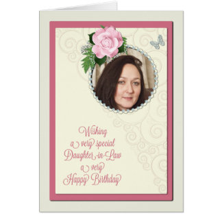 Daughter-in-law, add a photo,birthday card
