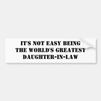 Daughter-In-Law Bumper Stickers