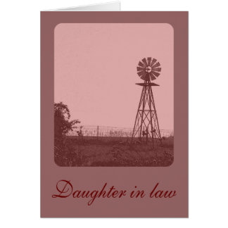 Daughter in law greeting card