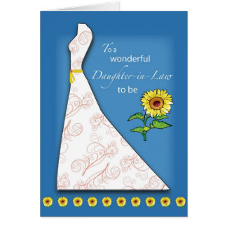 Daughter-in-Law to Be Bridal Shower Sunflower Card
