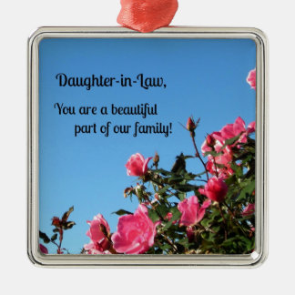 Daughter-in-Law, you are a beautiful part of ... Metal Ornament