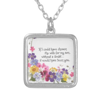 Daughter-inLaw Gifts Silver Plated Necklace