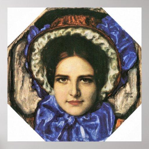 Daughter Mary by Franz von Stuck Poster