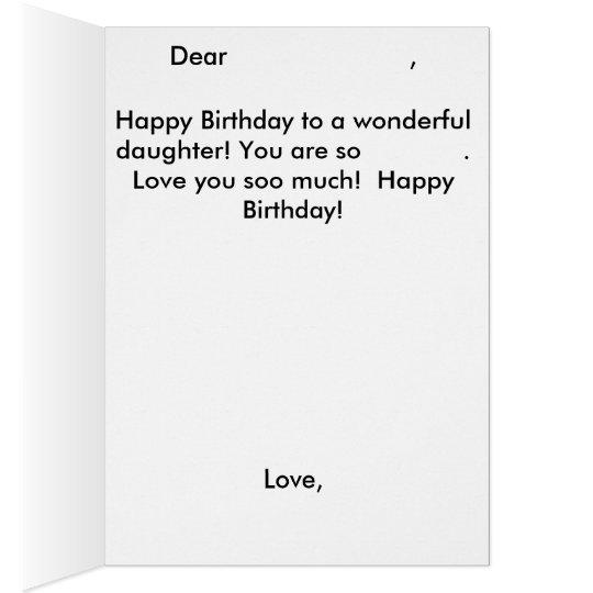 Daughter Mermaid Birthday Card