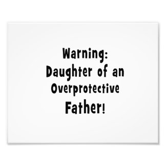 daughter of overprotective father black photographic print