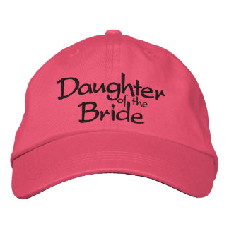 Daughter of the Bride Embroidered Wedding Cap Embroidered Hat