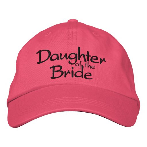 Daughter of the Bride Embroidered Wedding Cap Embroidered Hats