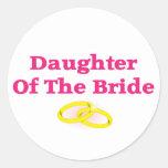 Daughter Of The Bride Round Sticker