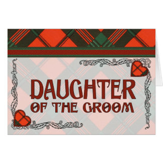 Daughter of the Groom Invitation - Scott Tartan