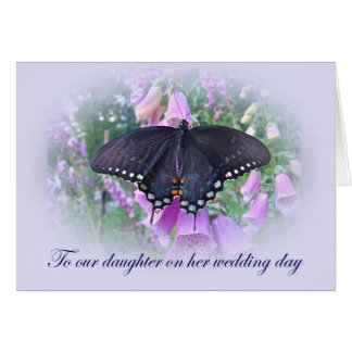 Daughter on Her Wedding Day Card