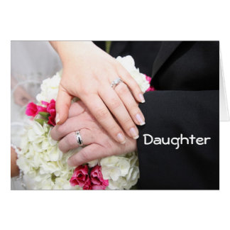 "**DAUGHTER** ON WEDDING DAY"" WISHING YOU HAPPINESS GREETING CARD"