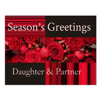Daughter & Partner Christmas Card Postcards