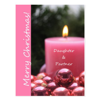 Daughter & Partner Christmas Card Post Cards