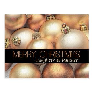 Daughter & Partner christmas card Postcard