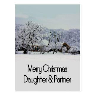 Daughter & Partner   snow farm2.jpg Post Cards