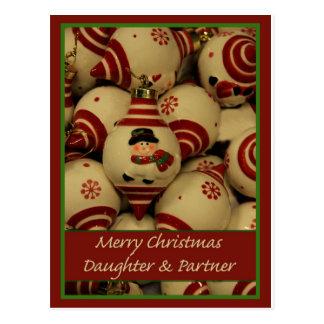Daughter & Partner      snow men ornaments.jpg Postcard