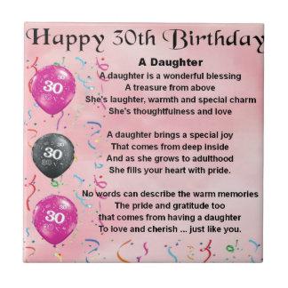 Daughter Poem  30th Birthday Tile