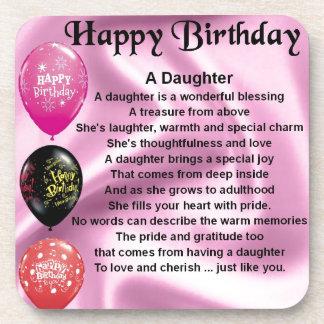 daughter poem  happy birthday beverage coaster