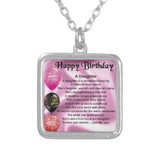 daughter poem  happy birthday personalised necklace