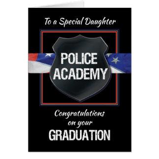 Daughter, Police Academy Graduation Congratulation Card