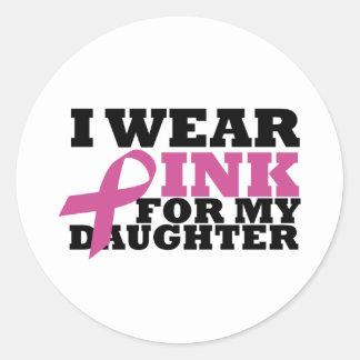 daughter round sticker