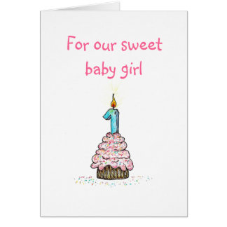 Daughter s First Birthday Card