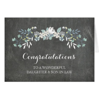 Daughter & Son In Law Congratulations Chalkboard Card