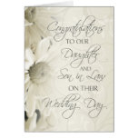 Daughter & Son In Law Wedding Congratulations Card