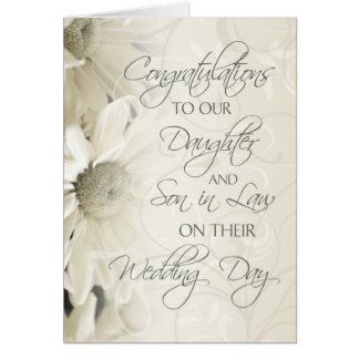 Daughter & Son In Law Wedding Congratulations Card