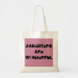Daughters celebration budget tote bag