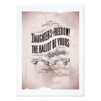 Daughters Freedom Ballet is Yours 14 Cm X 19 Cm Invitation Card