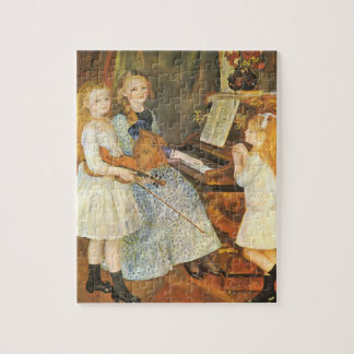 Daughters of Catulle Mendes by Pierre Renoir Jigsaw Puzzle
