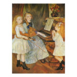 Daughters of Catulle Mendes by Pierre Renoir Poster
