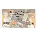 Daughters of Catulle Mendes; Pierre Auguste Renoir Business Card Templates